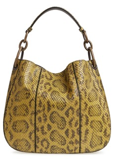 Bottega Veneta Small Loop Genuine Anaconda Snakeskin Leather Hobo