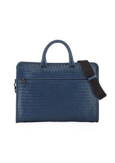 Bottega Veneta Softie Slim Woven Briefcase