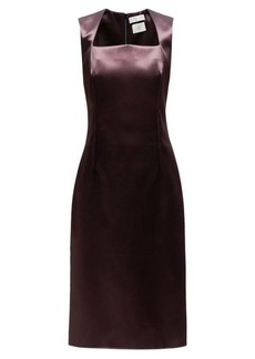 Bottega Veneta Square-neck satin midi dress
