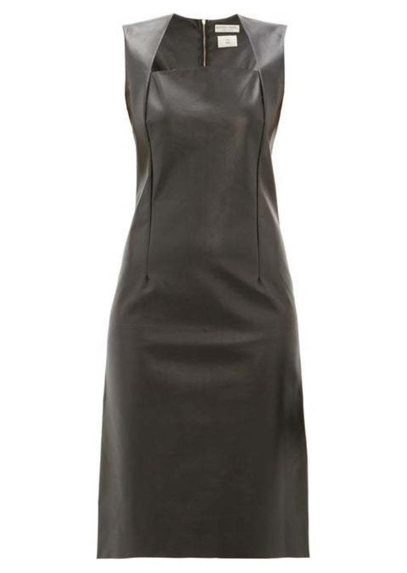 Bottega Veneta Square-neck leather dress