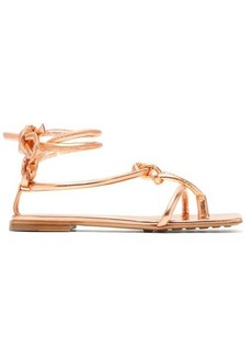 Bottega Veneta Square-toe knotted leather sandals