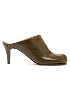 Bottega Veneta Square-toe leather mules
