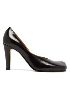 Bottega Veneta Square-toe leather pumps