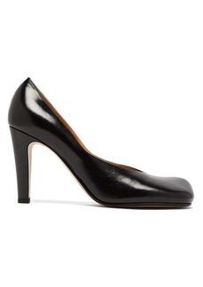 Bottega Veneta Square-toe leather pumps