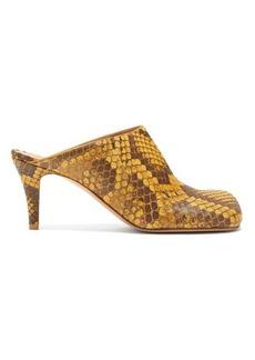 Bottega Veneta Square-toe python mules