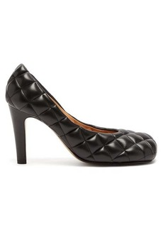Bottega Veneta Square-toe quilted-leather pumps