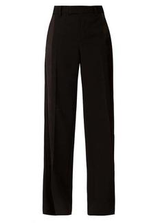 Bottega Veneta Straight-leg silk-trim wool-twill trousers