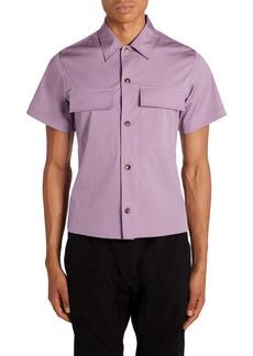 Bottega Veneta Stretch Poplin Short Sleeve Button-Up Shirt