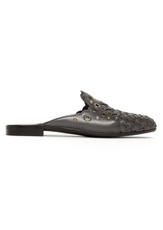 Bottega Veneta Studded Intrecciato backless leather loafers