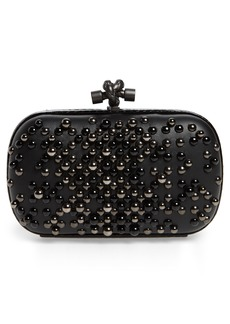 Bottega Veneta Studded Leather & Genuine Snakeskin Clutch