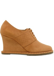 Bottega Veneta Suede wedge ankle boots