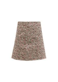 Bottega Veneta Tailored cotton-bouclé skirt
