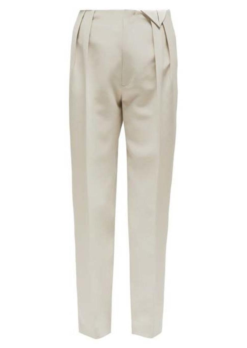Bottega Veneta Tailored pleated wool trousers