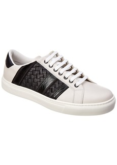 Bottega Veneta Tech Stripe Leather Sneaker