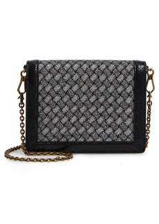 Bottega Veneta Textile, Lambskin Leather & Genuine Snakeskin Wallet on a Chain