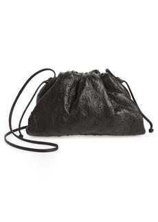 Bottega Veneta The Mini Pouch Ostrich Leather Clutch