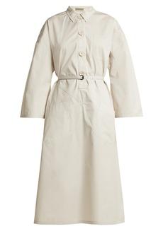 Bottega Veneta Tie-waist cotton shirtdress