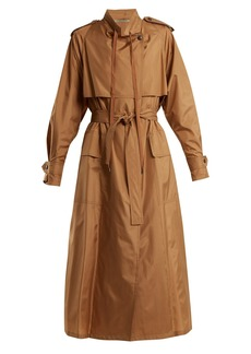 Bottega Veneta Tie-waist silk-blend taffeta trench coat