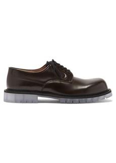 Bottega Veneta Transparent-sole leather Derby shoes