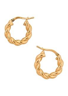 Bottega Veneta Twisted Hoop Earrings