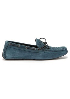 Bottega Veneta Wave Intrecciato suede driving loafers