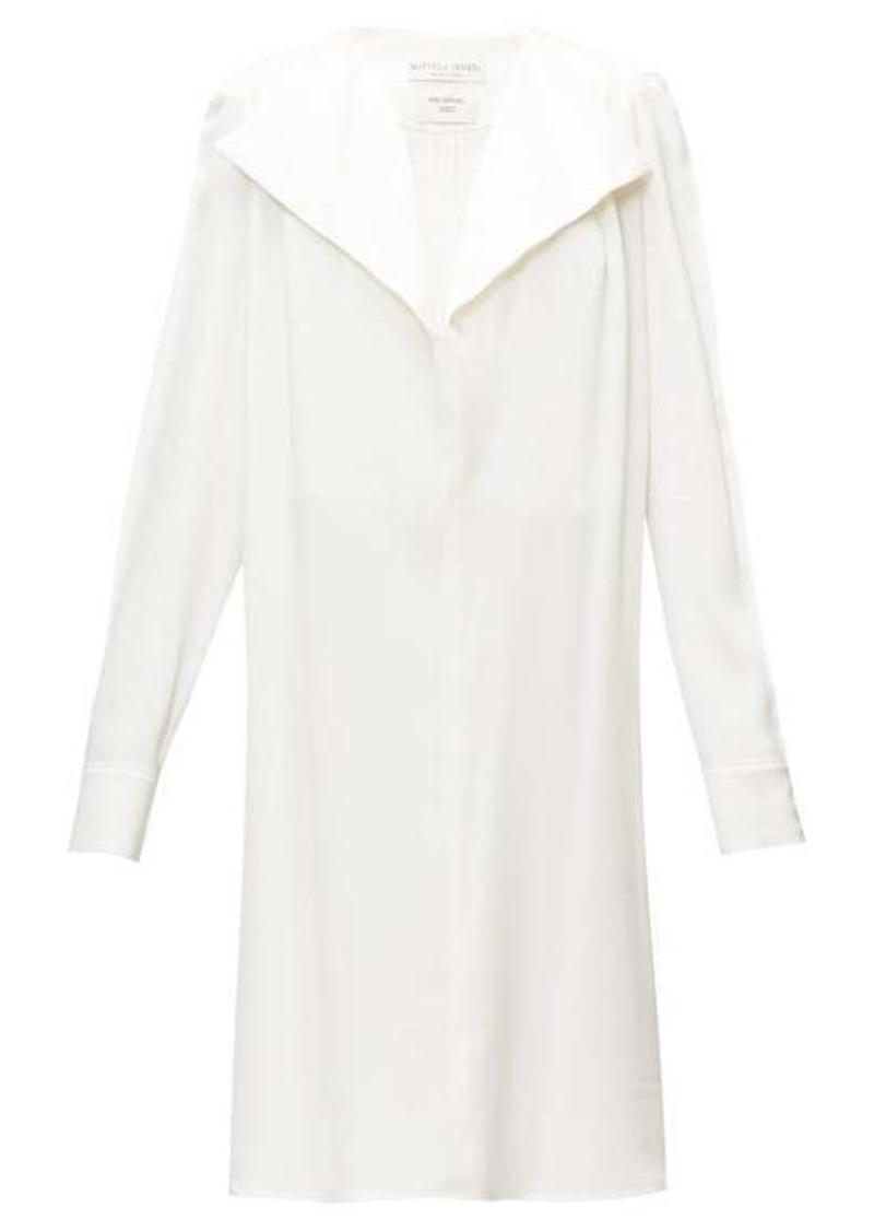 Bottega Veneta Belted wide-lapel silk-satin dress