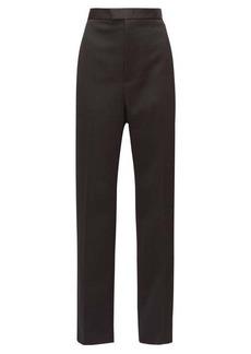 Bottega Veneta Wide-leg satin-striped wool tuxedo trousers