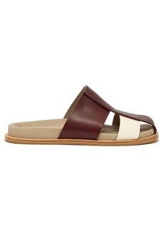 Bottega Veneta Wide strap leather cage sandals