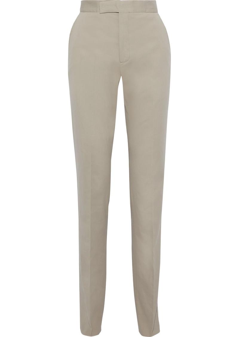 Bottega Veneta Woman Cotton-corduroy Straight-leg Pants Taupe