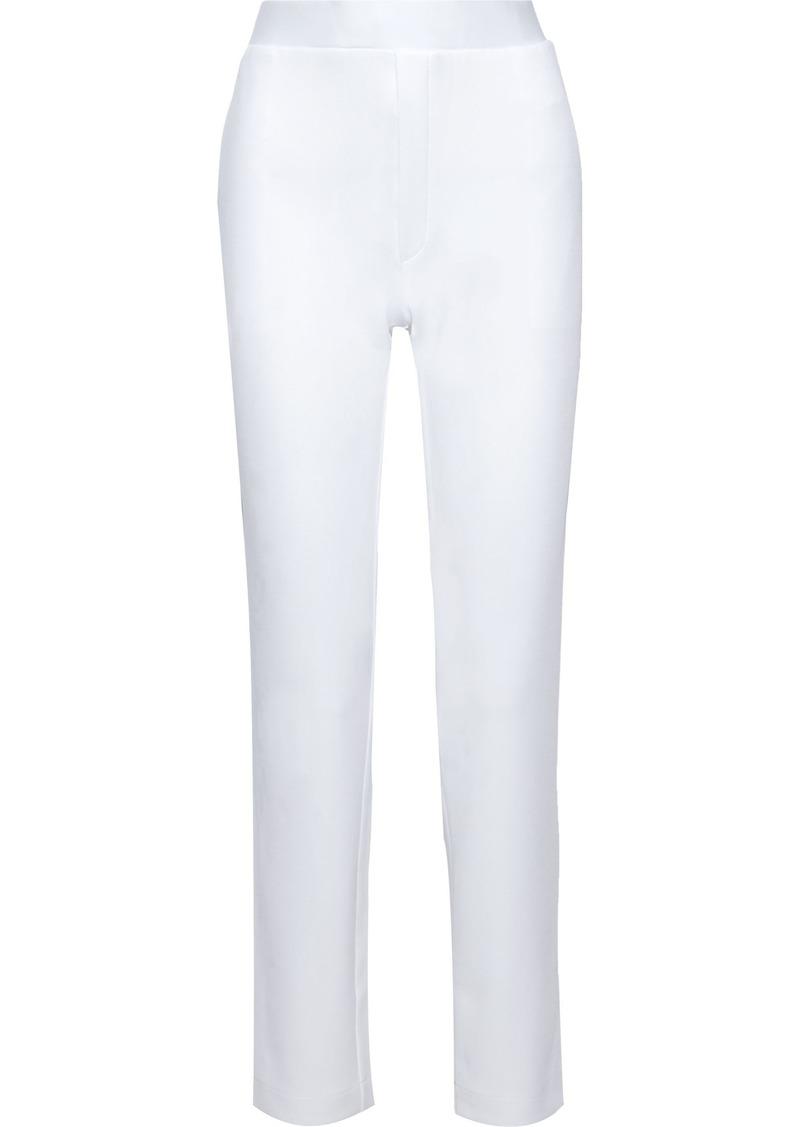 Bottega Veneta Woman Scuba Slim-leg Pants White