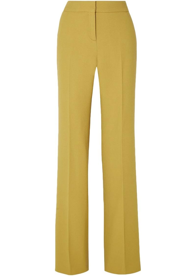 Bottega Veneta Woman Wool-crepe Wide-leg Pants Chartreuse