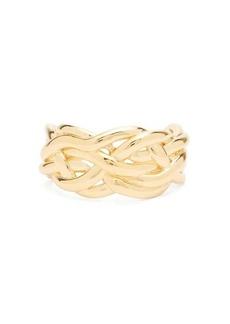 Bottega Veneta Woven 18kt gold-plated sterling-silver cuff