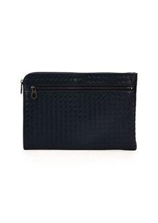 Bottega Veneta Woven Leather Portfolio Case