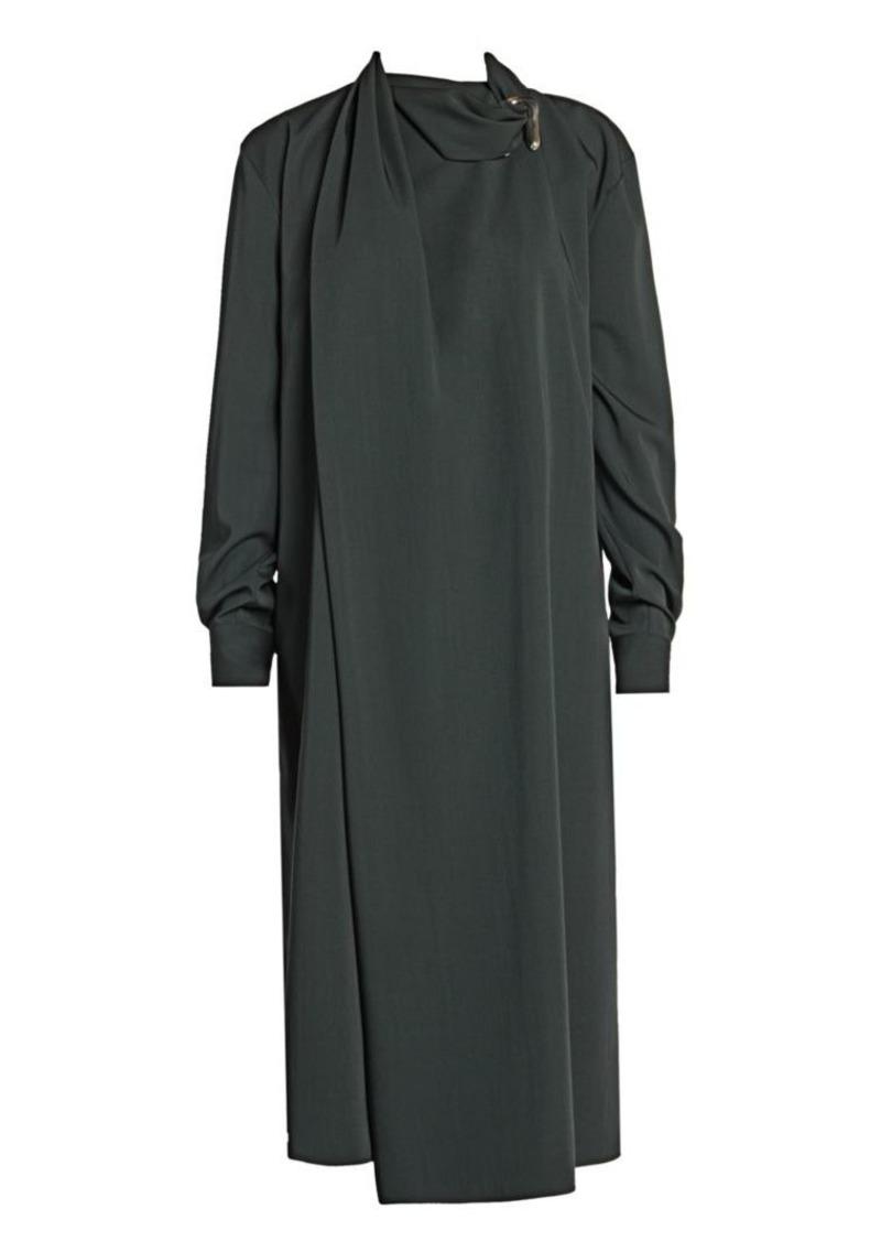 Bottega Veneta Brooch Detail Midi Dress