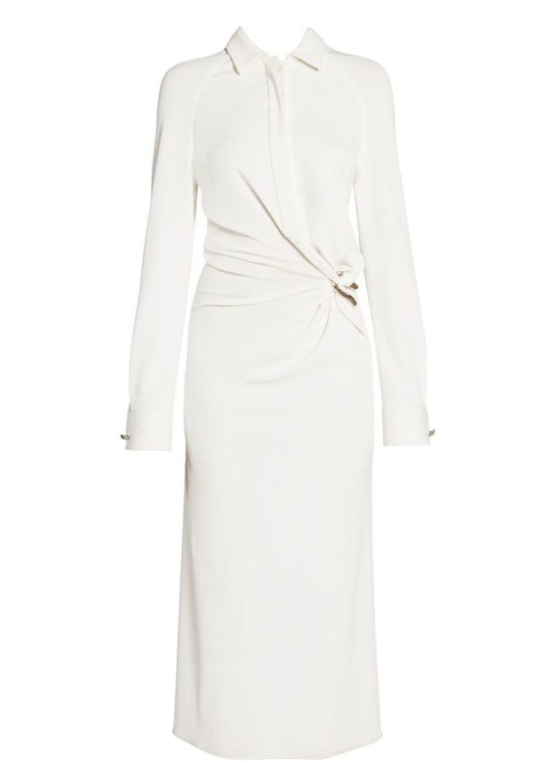 Bottega Veneta Brooch Detail Shirt Dress