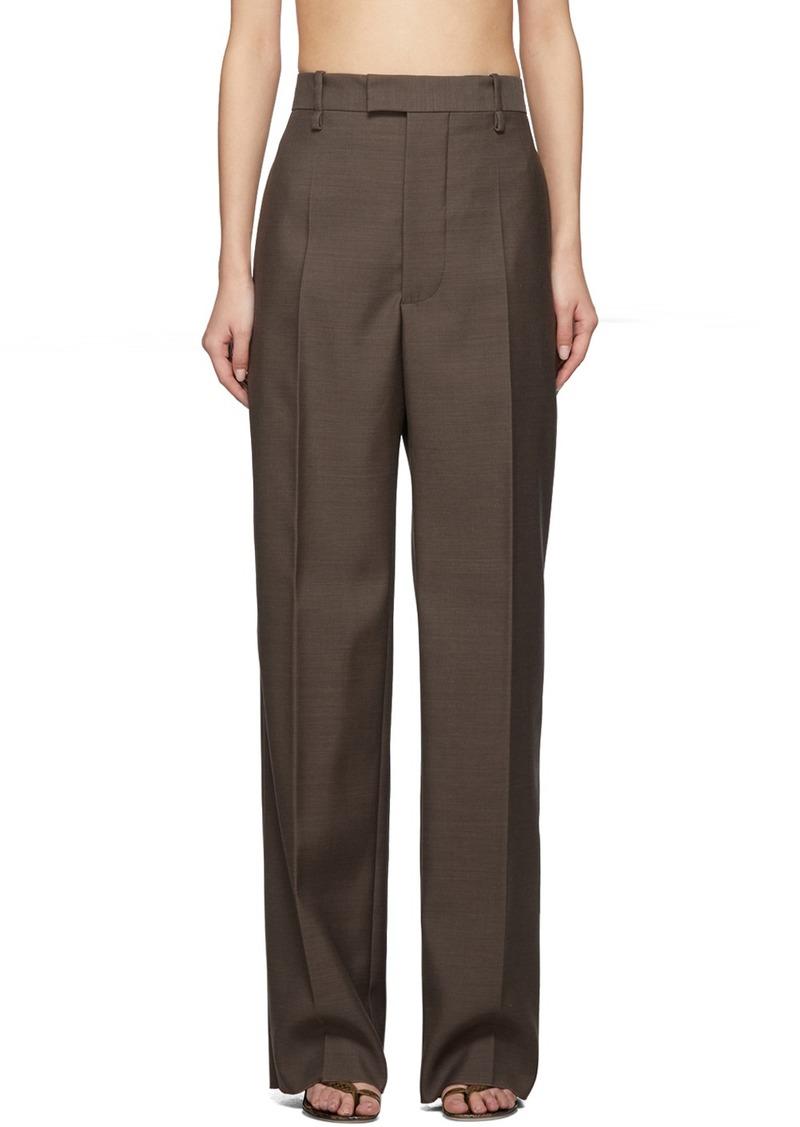 Bottega Veneta Brown Wool Travel Trousers