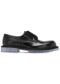 Bottega Veneta Brushed Leather Lace-up Derby Shoes