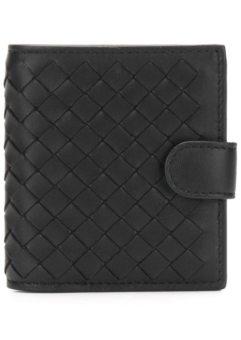 Bottega Veneta buttoned intrecciato wallet