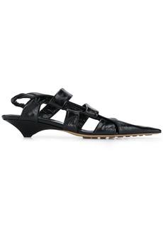 Bottega Veneta BV Point crinkled-finish sandals