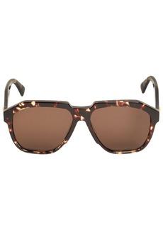 Bottega Veneta Bv1034s Bold Aviator Acetate Sunglasses
