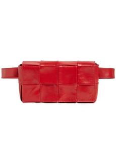 Bottega Veneta Cassette Intreccio Leather Belt Bag