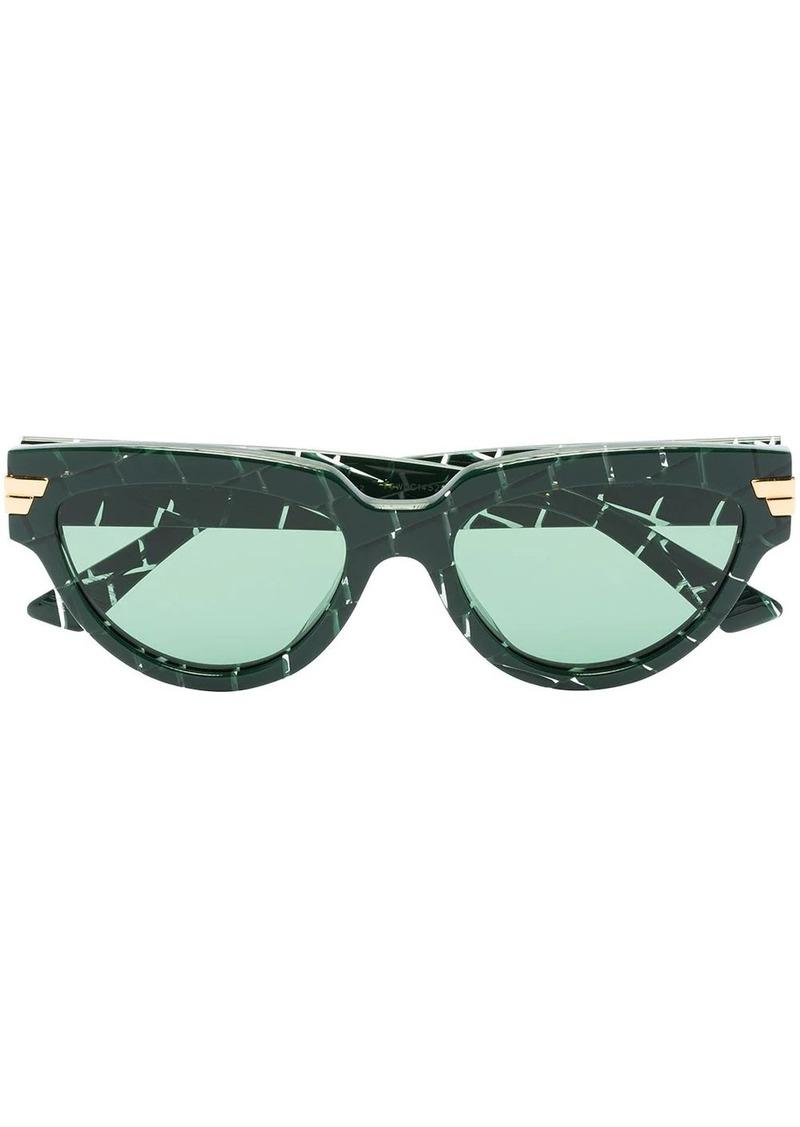 Bottega Veneta cat-eye croc-effect sunglasses