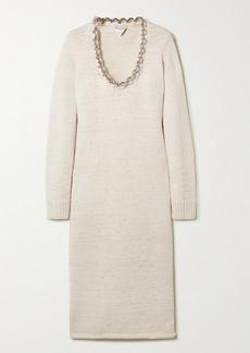 Bottega Veneta Chain-embellished Knitted Midi Dress