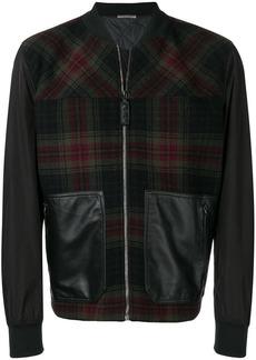 Bottega Veneta check bomber jacket