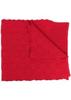 Bottega Veneta checkerboard-knit wraparound scarf