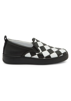 Bottega Veneta Checkerboard Leather Sneakers