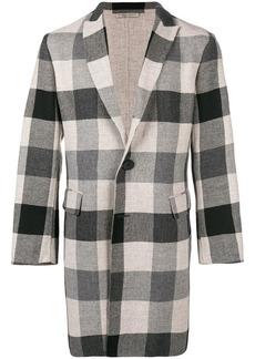 Bottega Veneta checkered single breasted coat
