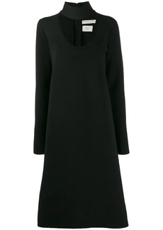 Bottega Veneta choker neck dress