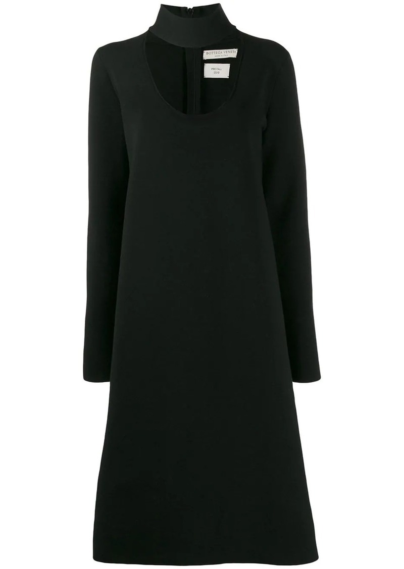 Bottega Veneta choker neck dress