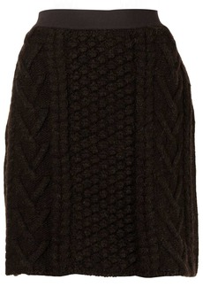 Bottega Veneta chunky-knit high-waist skirt